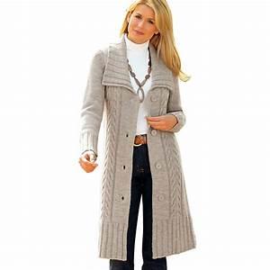Gilet Long Noir Femme : gilet femme long laine laine et tricot ~ Voncanada.com Idées de Décoration