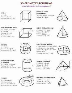2d And 3d Geometry Formulas Ebook Geometry Formulas