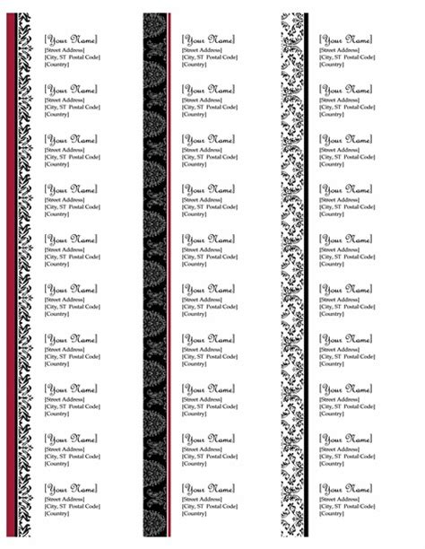 Avery 8 Labels Per Sheet Template Images Wedding Theme Return Address Labels Black And White Wedding Design