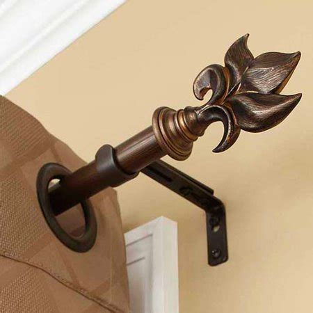 homes  gardens botanical curtain rod oil rubbed