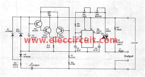 ac dimmer using ic 555 triac electronic projects
