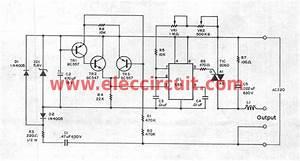 super ac dimmer using ic 555 triac eleccircuitcom With ac dimmer circuit