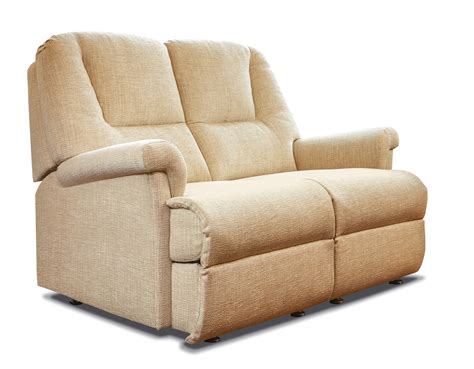 2 Seater Settees by Milburn Fabric Fixed 2 Seater Settee Sherborne