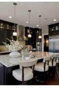 Kitchen with Dark Cabinets Light Granite