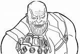 Coloring Thanos sketch template