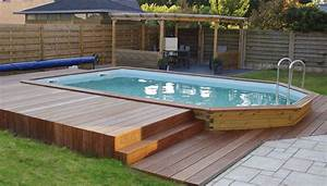 Piscine Hors Sol Bois Rectangulaire : piscine hors sol bois rectoo m2 7 60 x 3 90 m h 1 33 m ~ Dailycaller-alerts.com Idées de Décoration