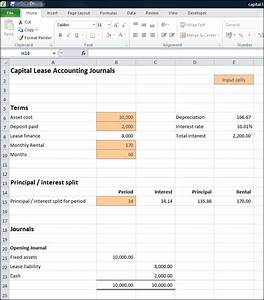 accounting for capital leases calculator double entry With capital lease template