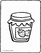 Jam Confiture Clipart Strawberry Colouring Coloring Coloriage Fraise Kleurplaat Kiddicolour Jelly Sheet Aardbeienjam Drawing Dessin Tekening Kiddicoloriage Kleurprent Kiddimalseite Leeftijd sketch template