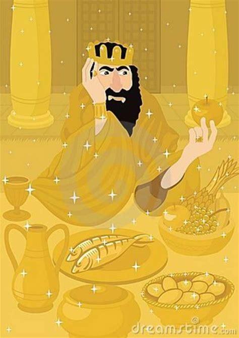 king midas stock vector illustration  myth golden