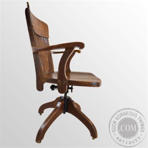 oak office study chair j s ford johnson chicago original