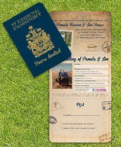 vintage wedding invitations canadian passport passport With classic wedding invitations canada