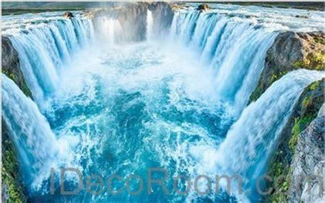 waterfall river  floor decals  wallpaper wall mural