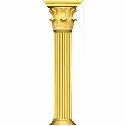 Column Clipart Pillar Transparent Temple Golden Pilar