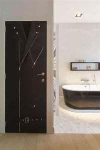 habillage de porte en tissu dedicated furniture sur mesure