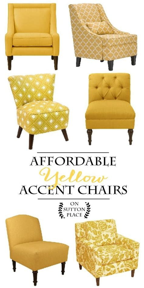 top 25 best yellow accent chairs ideas on