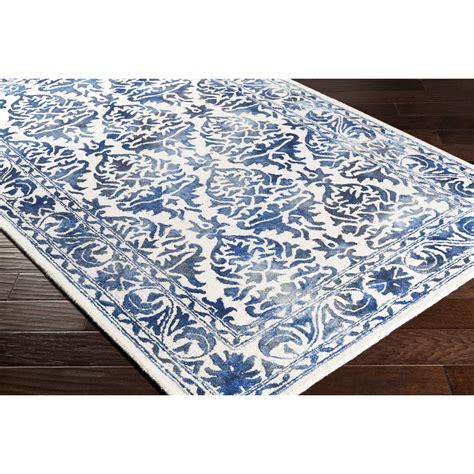 aidan ivory navy wool hand tufted area rug reviews