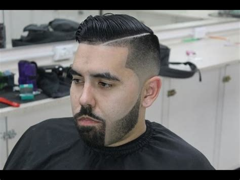 Blended Beard, Bald Fade, Combover with Hard Part   YouTube