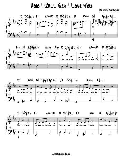 how i will say i you lead sheet