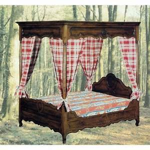 Lit A Baldaquin En Bois : lit baldaquin louis xv moulur meubles de normandie ~ Teatrodelosmanantiales.com Idées de Décoration