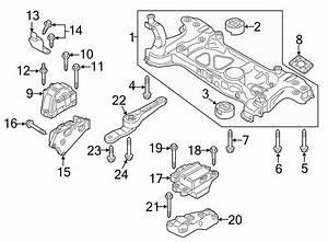 2013 Volkswagen Passat Mount  Transmission  Support  Liter  Wawd  Tts - 1k0199555ab
