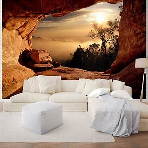 Giant size wall mural wallpapers Mountain view ...