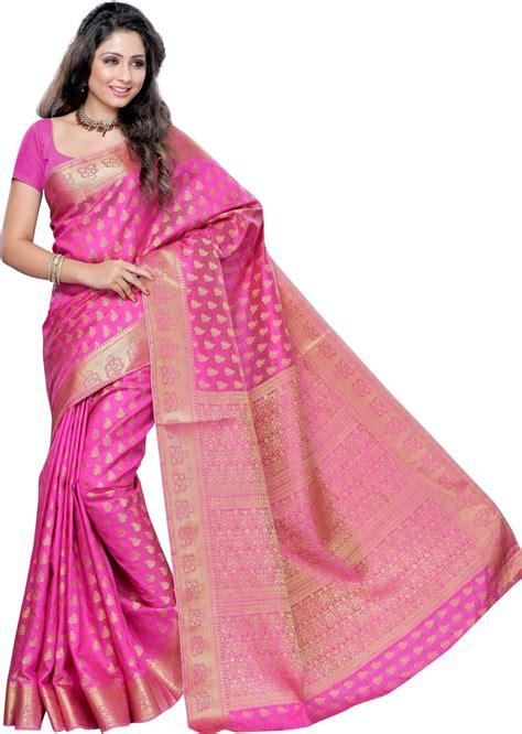 buy mimosa printed kanjivaram tussar silk pink sarees