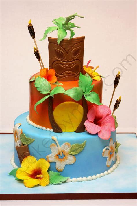 Hawaiian Themed Birthday Cake Cakecentralcom