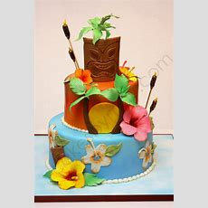 Hawaiian Themed Birthday Cake Cakecentralcom