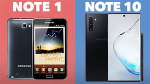 Evolution Of The Galaxy Note  Note 1 - Note 10