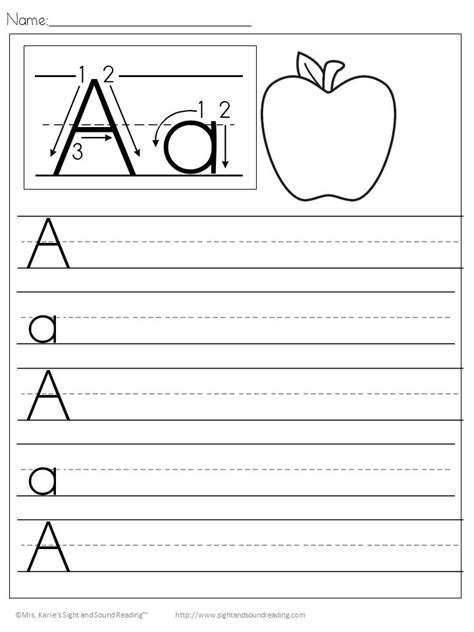 Free Printable Preschool Alphabet Handwriting Worksheets  Printable 360 Degree