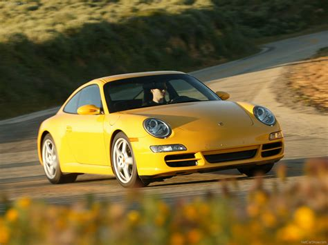 yellow porsche  carrera coupe wallpapers