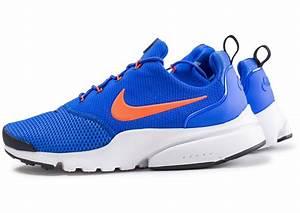 Bleu Et Orange : nike presto fly bleu et orange chaussures baskets homme chausport ~ Nature-et-papiers.com Idées de Décoration
