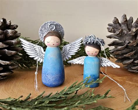 Diy Peg Doll Angel Ornament Sectional Living Room Set Light Paint Colors For Hutch In Wall Mural Ideas Decorations Bedroom And Sets Coastal Chic Rooms Carpet Size
