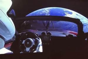 Tesla Dans Lespace : vid o tesla lance la premi re voiture dans l 39 espace l 39 argus ~ Nature-et-papiers.com Idées de Décoration