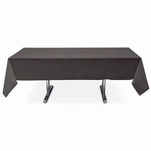 Nappe De Table Pas Cher : nappe rectangle noire pas cher en intiss 3 99 ~ Teatrodelosmanantiales.com Idées de Décoration
