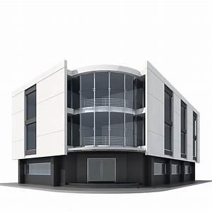 Corner Building 3D Model MAX OBJ 3DS | CGTrader.com