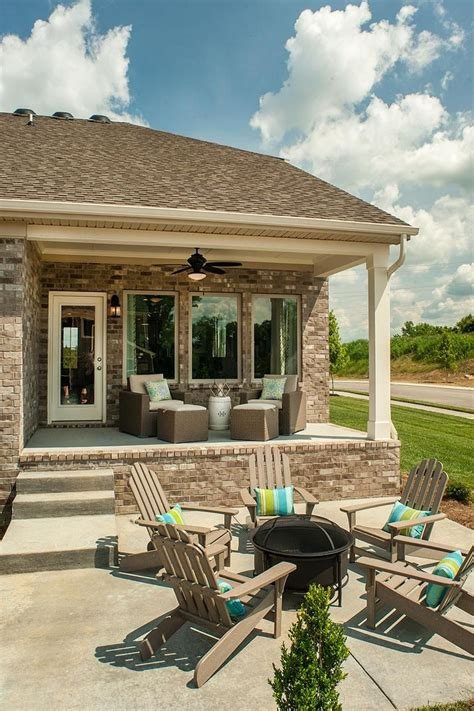 outdoor living area  firepit  kinsley floor plan