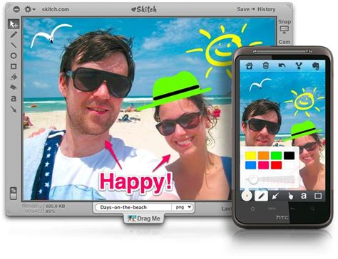 skitch for android skitch opens up a small app that shows the screenshot and