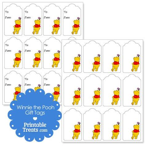 Winnie The Pooh Cake Template by Printable Winnie The Pooh Gift Tags From Printabletreats