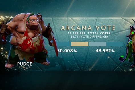 pudge beats rubick  arcana vote  mere thousands  flying courier