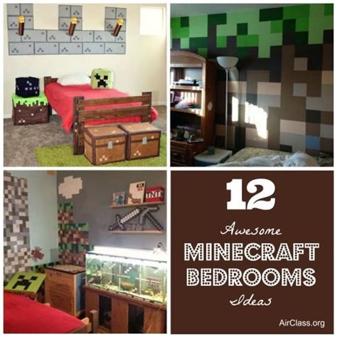 Minecraft Themed Room Ideas by 12 Awesome Minecraft Bedrooms Ideas Boys Pinterest