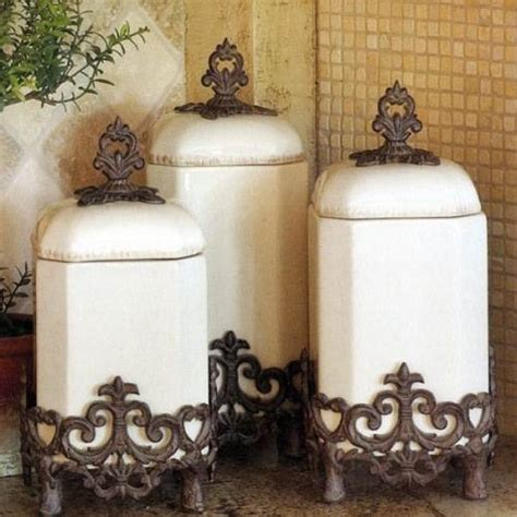 country kitchen canisters the interior design inspiration board - French Country Kitchen Canisters