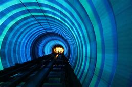 Image result for pictures of subway tunnels in bright blue colors