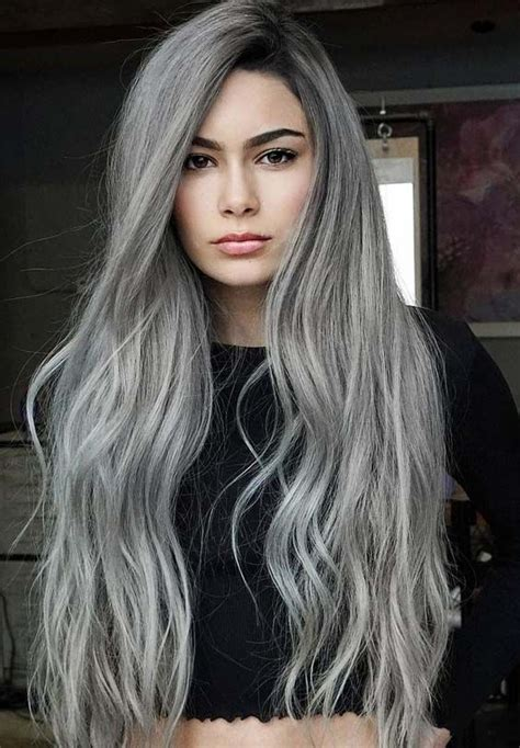 40 Stunning Silver Hair Color Ideas For Long Hair In 2018