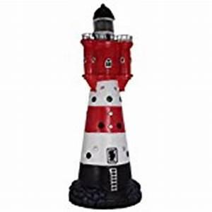 Leuchtturm Für Den Garten : leuchtturm garten roter sand leuchtturm f r den garten gartendeko mit solar led blinklicht 50 cm ~ Frokenaadalensverden.com Haus und Dekorationen