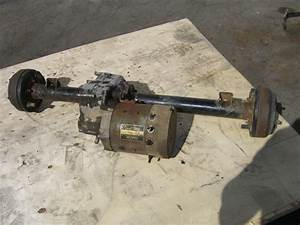Rear End Differential Assembly Club Car Ds Golf Cart Axle With Motor   Lsv Carts