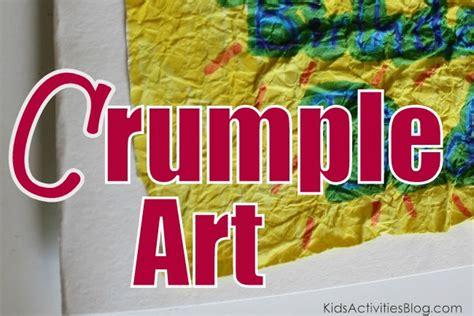 cool homemade cards crumple art