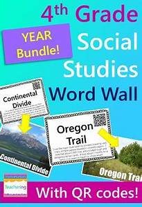 4th grade Social Studies Word Wall with QR codes for the ...
