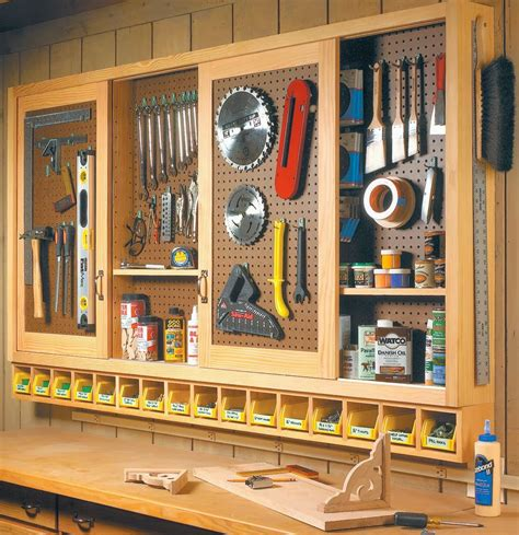 build  organized pegboard tool cabinet  simple