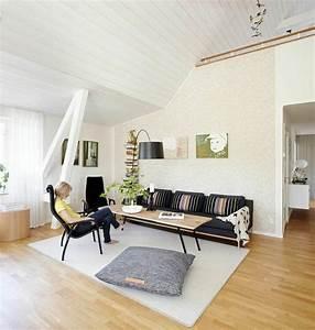 Meuble Salon Noir : id e d co salon le salon en style scandinave ideeco ~ Teatrodelosmanantiales.com Idées de Décoration